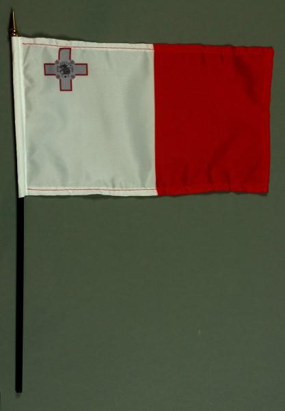 Tischflagge Malta 15x25 cm BASIC optional mit Tischflaggenständer