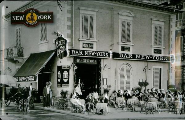 Blechschild Caffe Espresso Bar Cafe New York Coffee Shop Schild Nostalgieschild