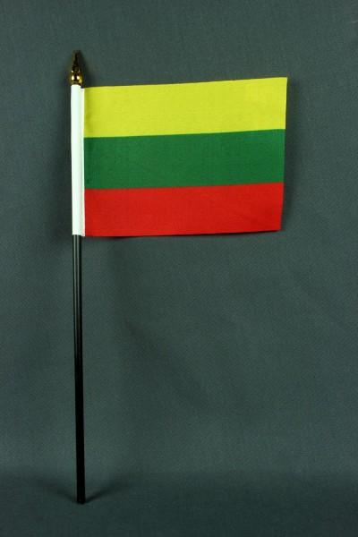 Kleine Tischflagge Litauen 10x15 cm optional mit Tischfähnchenständer