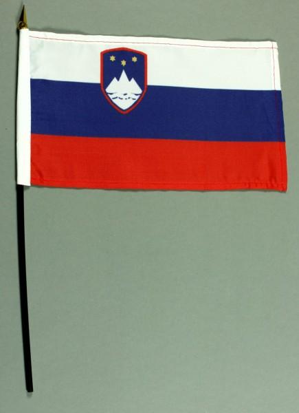 Tischflagge Slowenien 25x15 cm BASIC optional mit Tischflaggenständer