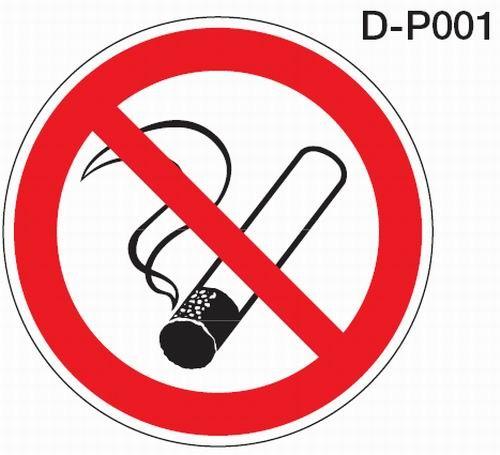 Aluminium Verbotsschild D-P001 rund rauchen verboten verschiedene Größen 0,6 mm Alu