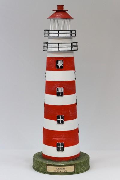 Blechleuchtturm Ameland 41 cm Modell mit Teelichthalter