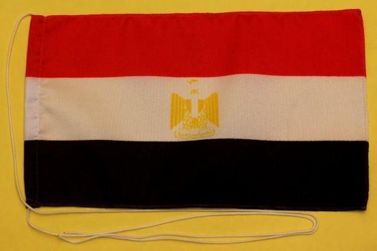 Tischflagge Aegypten Ägypten 25x15 cm optional mit Holz- oder Chromständer Tischfahne Tischfähnchen