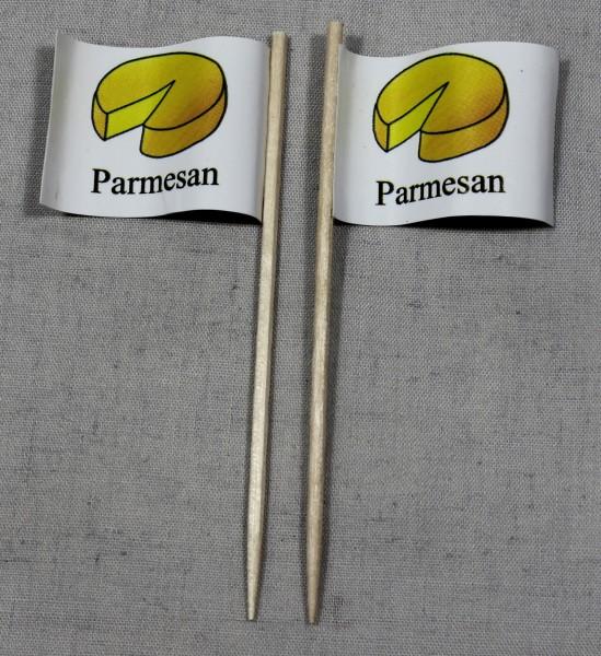Party-Picker Flagge Parmesan Käse Papierfähnchen in Spitzenqualität 50 Stück Beutel