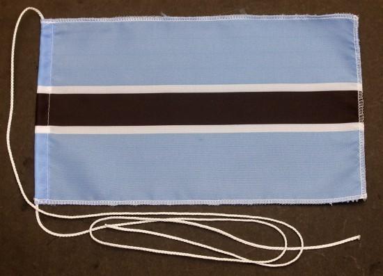Tischflagge Botswana 25x15 cm optional mit Holz- oder Chromständer Tischfahne Tischfähnchen