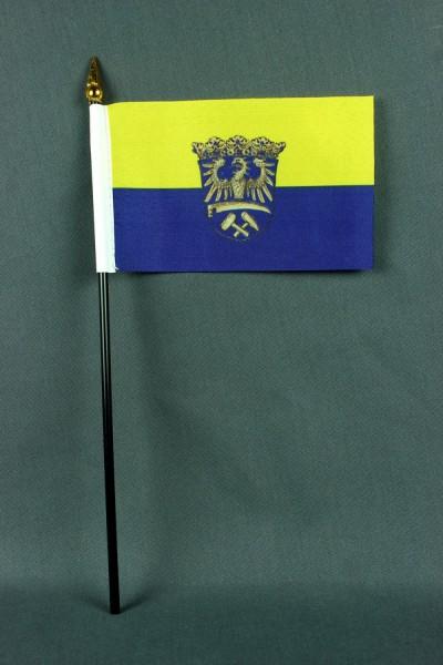 Kleine Tischflagge Oberschlesien 10x15 cm optional mit Tischfähnchenständer