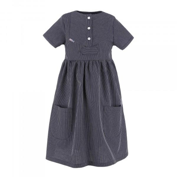 Kinder Fischerkleid schmalgestreift Finkenwerder Stil Kinderkleidung Kinderkleid