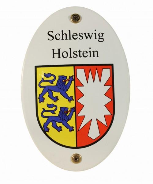 Emaille Wappenschild Schleswig Holstein Emailleschild