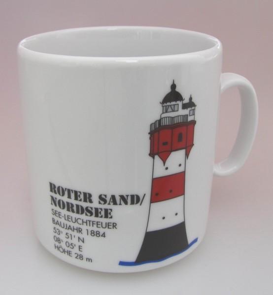 Leuchtturm Becher Roter Sand Nordsee