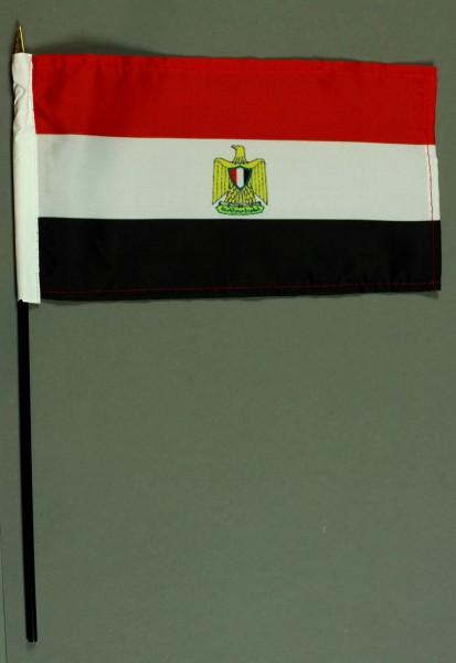 Tischflagge Ägypten BASIC 15x25 cm BASIC optional mit Tischflaggenständer
