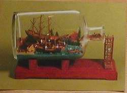 Buddelschiff - Postkarte bb01