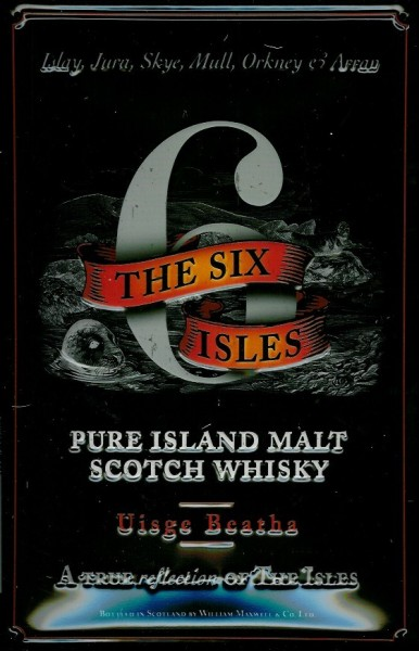 Blechschild The six Isles Island Malt Scotch Whisky Schild retro Nostalgieschild