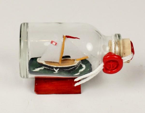 1-Mastschoner Jane Mini Buddelschiff 20 ml 5,3x3 cm Flaschenschiff