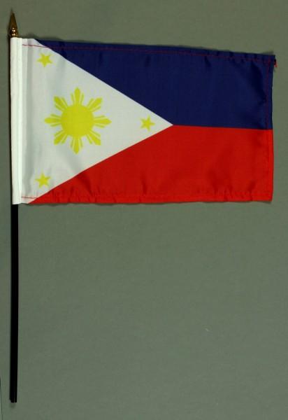 Tischflagge Philippinen 15x25 cm BASIC optional mit Tischflaggenständer