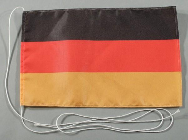 Tischflagge Deutschland 25x15 cm optional mit Holz- oder Chromständer Tischfahne Tischfähnchen