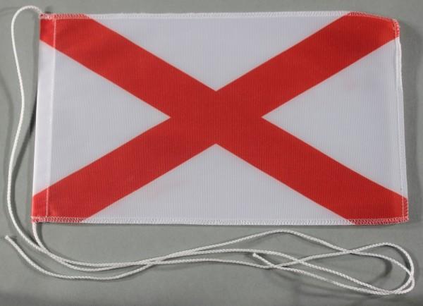 Tischflagge Alabama USA Bundesstaat US State 25x15 cm optional mit Holz- oder Chromständer Tischfahn