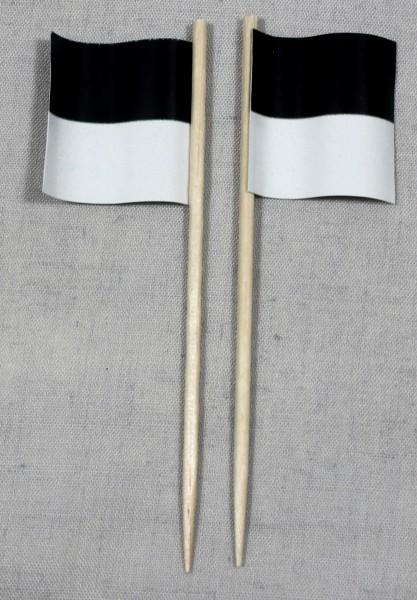 Party-Picker Flagge Fribourg Kanton Schweiz Papierfähnchen in Spitzenqualität 50 Stück Beutel