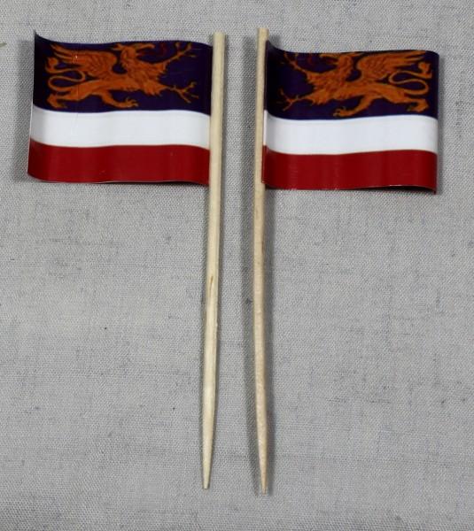 Party-Picker Flagge Rostock Papierfähnchen in Spitzenqualität 50 Stück Beutel