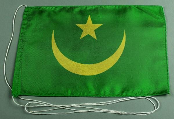 Tischflagge Mauretanien 25x15 cm optional mit Holz- oder Chromständer Tischfahne Tischfähnchen