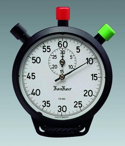 Mechanische analoge Doppelstopper Stoppuhr ABS Hanhart AMIGO 1/5 sec 30 min