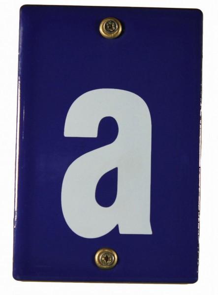 Hausnummernschild a Emaille Hausnummer Schild 12x8 cm Haus Nummer Zahl Ziffer Metallschild