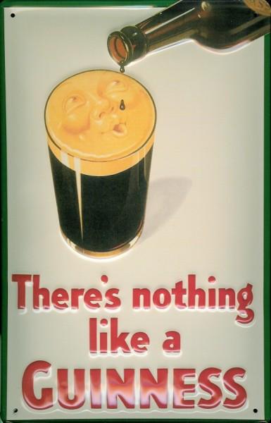 Blechschild Guinness Bier Glas Schaum Gesicht Schild retro Nostalgieschild