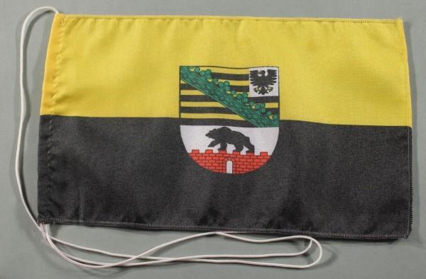Tischflagge Sachsen Anhalt 25x15 cm optional mit Holz- oder Chromständer Tischfahne Tischfähnchen