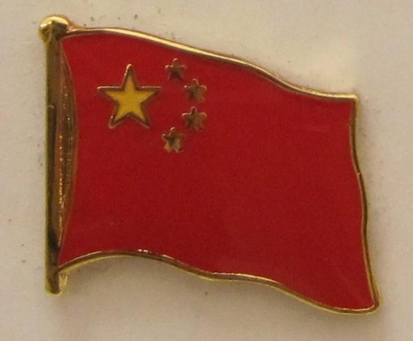 China Pin Anstecker Flagge Fahne Nationalflagge