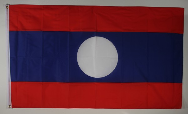 Flagge Fahne : Laos Nationalflagge Nationalfahne