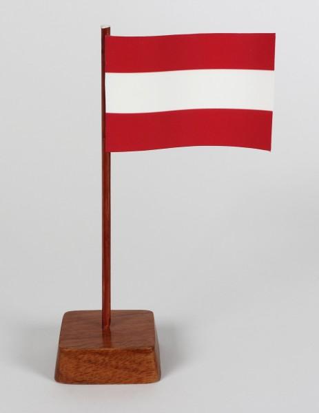 Mini Tischflagge Österreich Höhe 13 cm Tischfähnchen