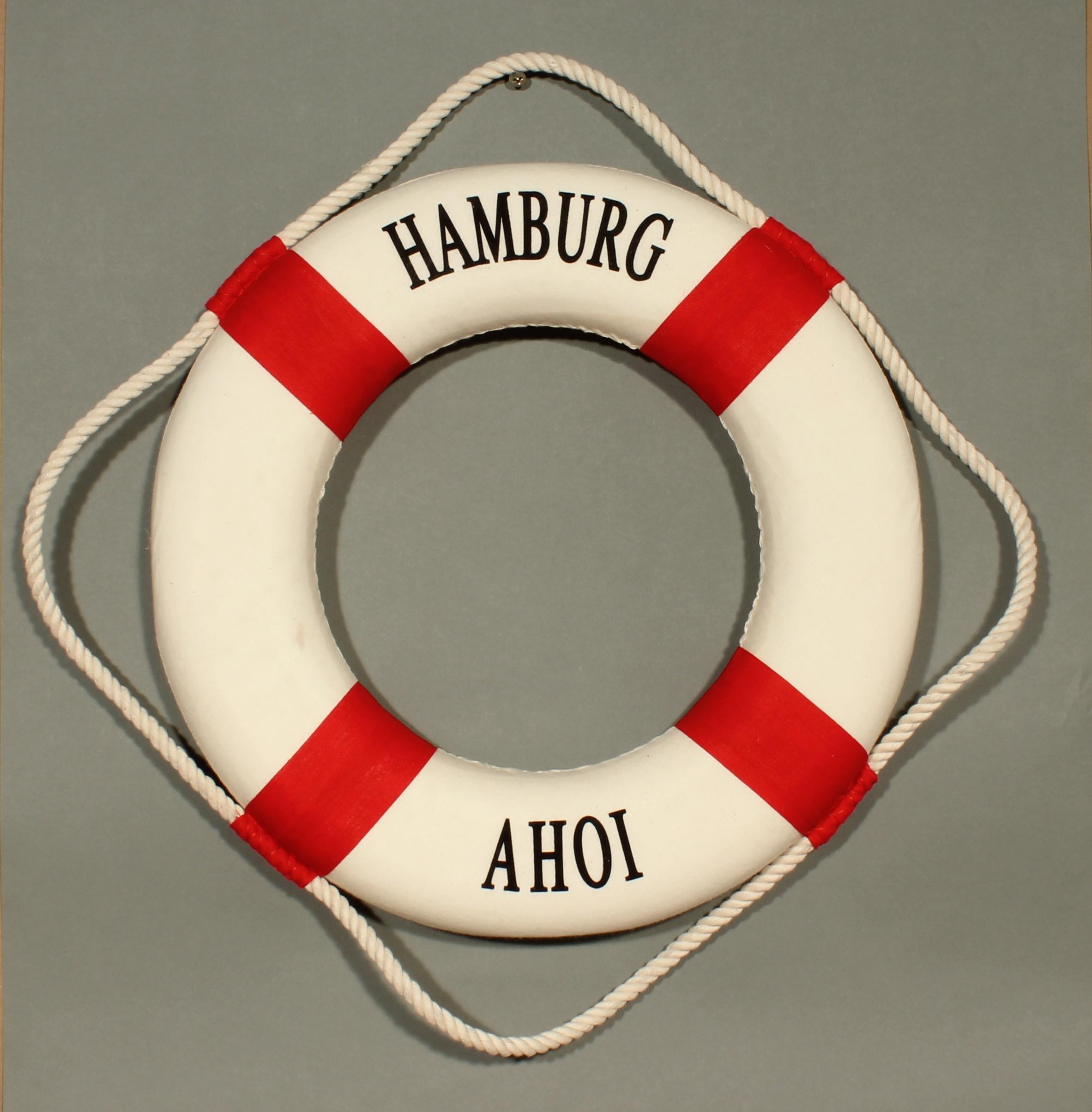 Rettungsring Deko Rot 15cm Hamburg Ahoi Wohnaccessoires