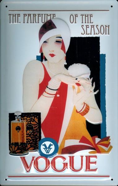 Blechschild Vogue Parfum Schild Parfume Nostalgieschild
