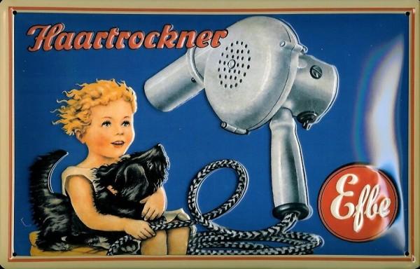 Blechschild Efbe Haartrockner Bakelit DDR VEB 1959 Schild retro Werbeschild Nostalgieschild