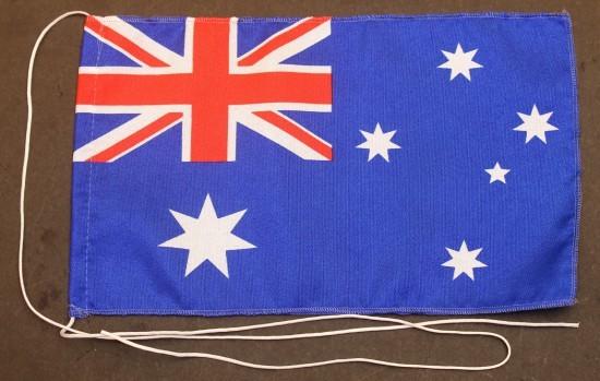 Tischflagge Australien 25x15 cm optional mit Holz- oder Chromständer Tischfahne Tischfähnchen