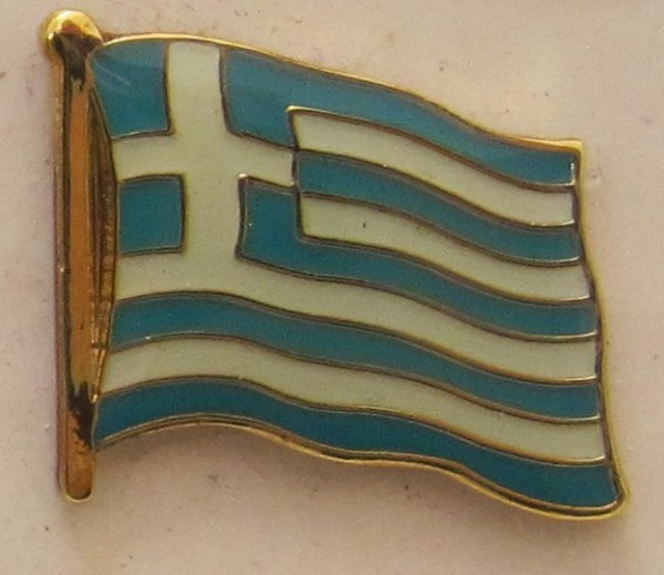 Pin Anstecker Flagge Fahne Griechenland Nationalflagge Flaggenpin Button Badge Flaggen Clip Ansteckn