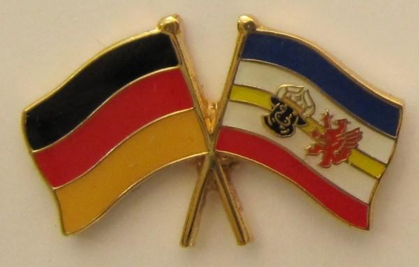 Mecklenburg Vorpommern / Deutschland Freundschafts Pin Anstecker Flagge Fahne Nationalflagge