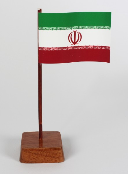 Mini Tischflagge Iran Höhe 13 cm Tischfähnchen
