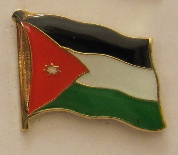 Jordanien Pin Anstecker Flagge Fahne Nationalflagge