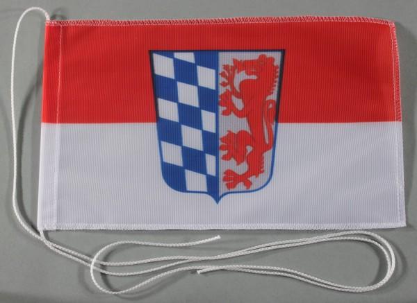 Tischflagge Niederbayern Nieder Bayern 25x15 cm optional mit Holz- oder Chromständer Tischfahne Tisc