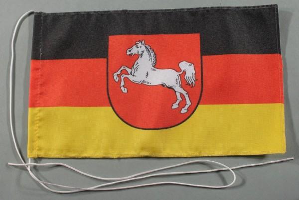 Tischflagge Niedersachsen 25x15 cm optional mit Holz- oder Chromständer Tischfahne Tischfähnchen