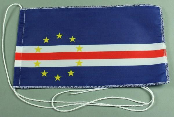 Tischflagge Kap Verde 25x15 cm optional mit Holz- oder Chromständer Tischfahne Tischfähnchen