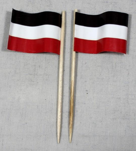 Party-Picker Flagge Deutschland Kaiserreich Papierfähnchen in Spitzenqualität 50 Stück Beutel