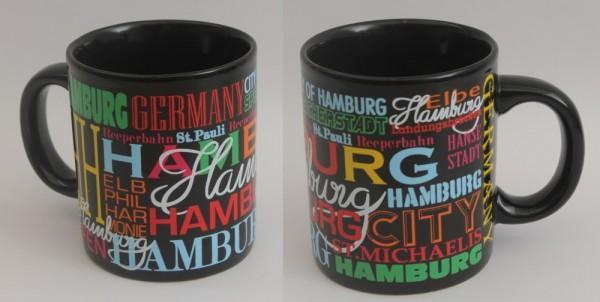 Hamburg Kaffeebecher bunt Souvenir Kaffeetasse Kaffee Becher Andenken
