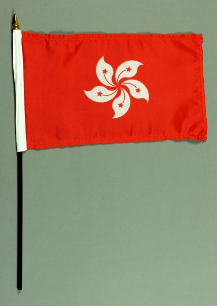 Tischflagge Hongkong 25x15 cm BASIC optional mit Tischflaggenständer