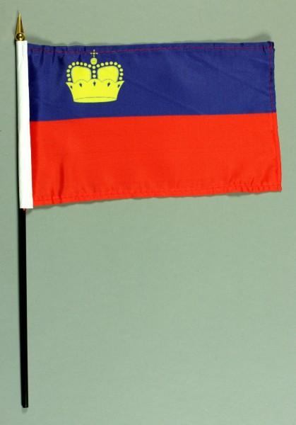Tischflagge Liechtenstein 15x25 cm BASIC optional mit Tischflaggenständer