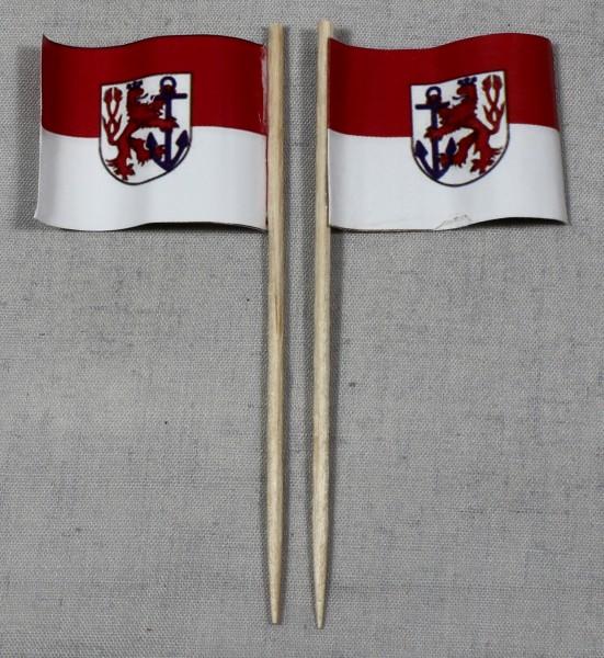Party-Picker Flagge Düsseldorf Papierfähnchen in Spitzenqualität 50 Stück Beutel