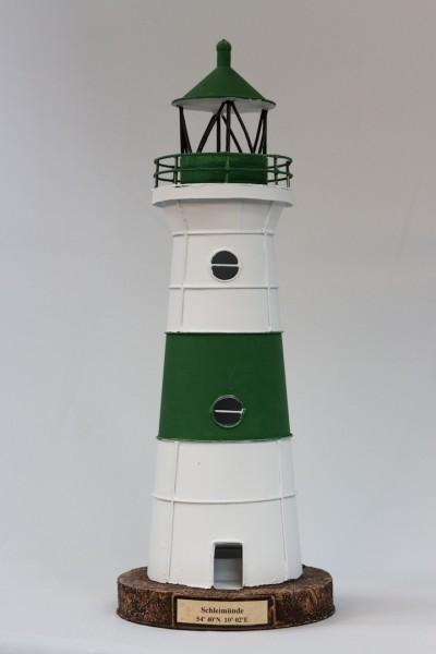 Blechleuchtturm Schleimünde 44 cm Leuchtturm Modell mit Teelichthalter
