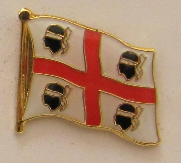 Pin Anstecker Flagge Fahne Sardinien (alt) Italien