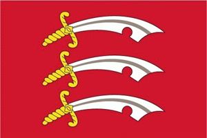 Flagge Fahne : Essex Eastseaxe England