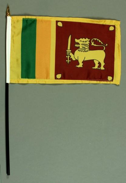 Tischflagge Sri Lanka 15x25 cm BASIC optional mit Tischflaggenständer